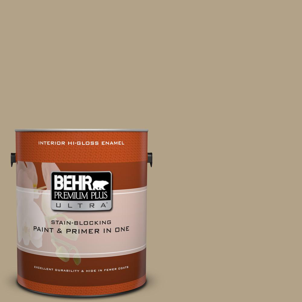 1 gal. #HDC-NT-12 Curly Willow Hi-Gloss Enamel Interior Paint