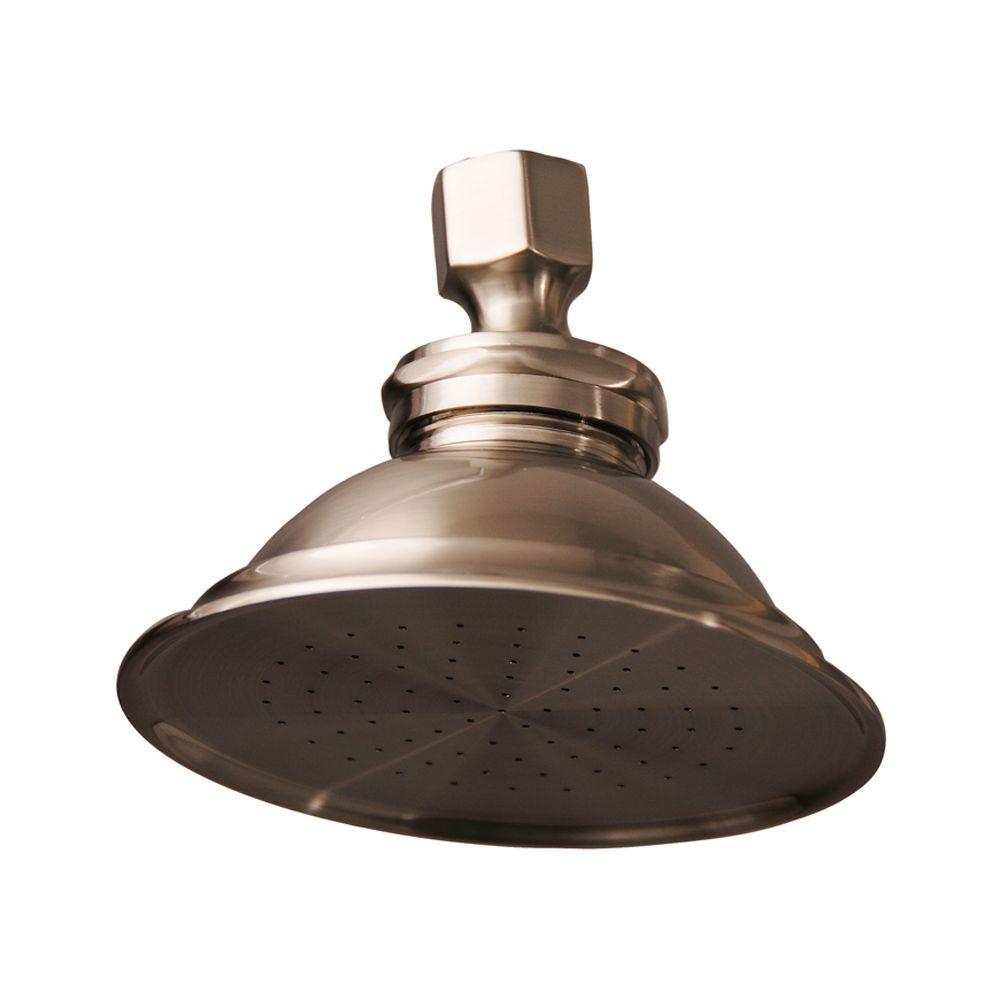 Sprinkler Can 1-Spray 4-3/4 in. Showerhead in Brushed Nickel