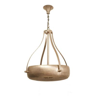 4-Light Nickel Large Size Pendent