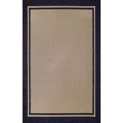 Savannah Blue And Beige 5 Ft X 7 Ft Indoor Outdoor Area Rug