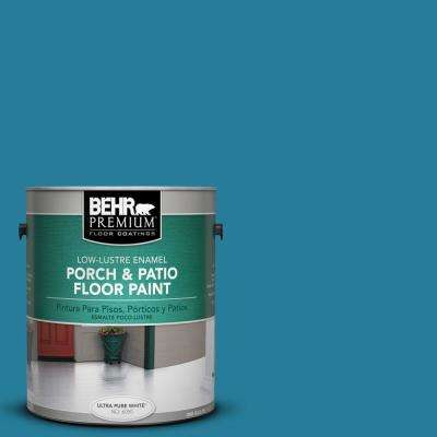1 gal. #M480-6 Valley of Glaciers Low-Lustre Porch and Patio Floor Paint