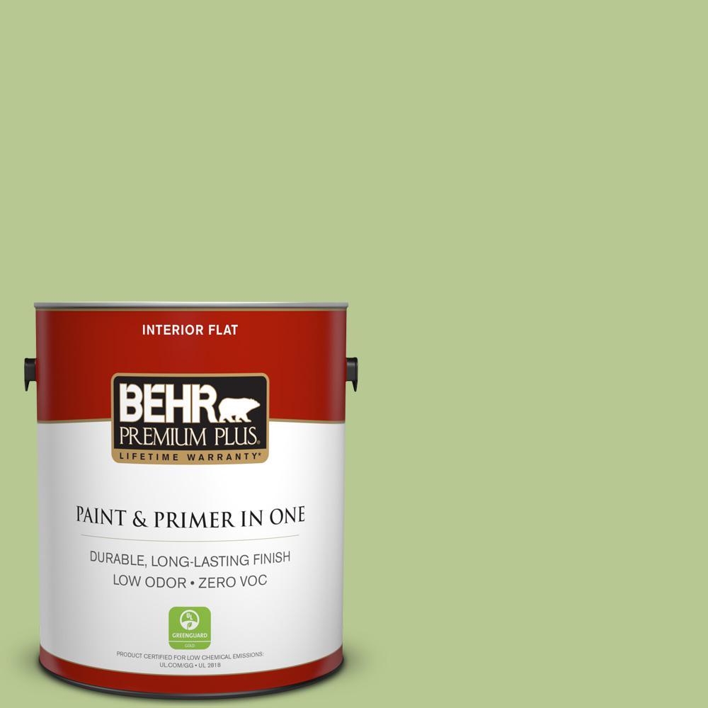 1 gal. #420D-4 Marsh Fern Flat Zero VOC Interior Paint and