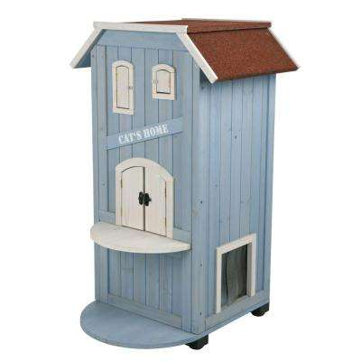 22 in. L x 23 in. W x 37 in. W 3-Story Cat's Home