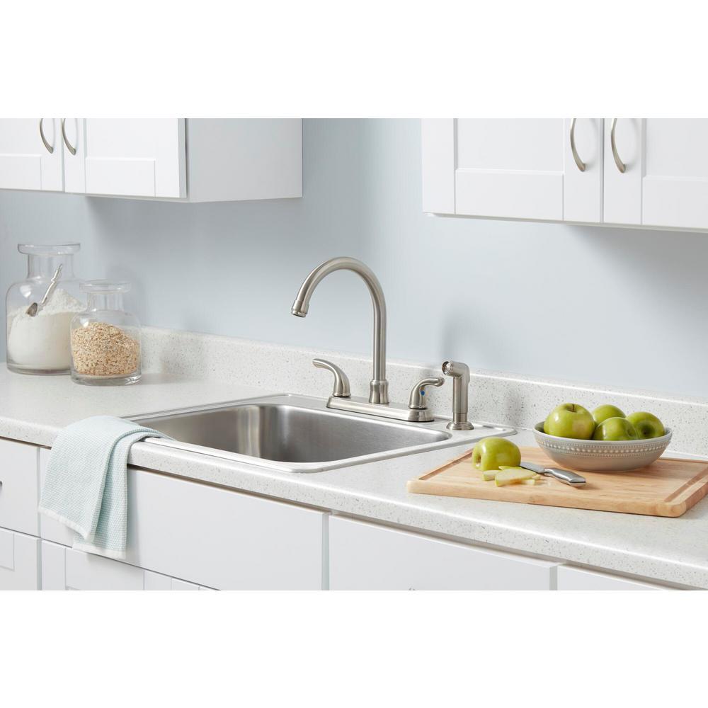Zhen kitchen faucet kitchen sink double cross handle faucet bathroom kitchen mixer bridge mounted neck rotation