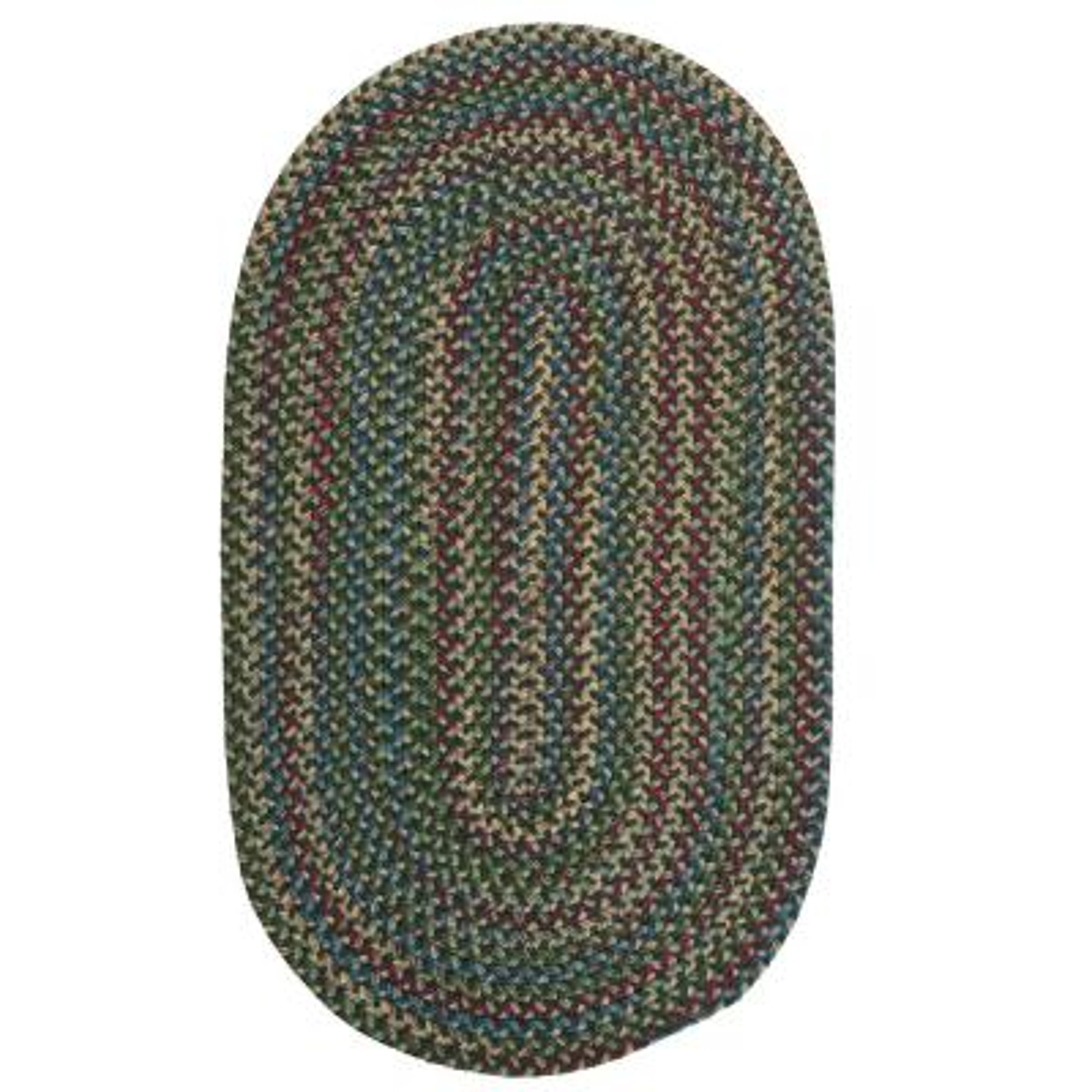 Millwork Green 8 ft. x 10 ft. Tweed Indoor Oval Area Rug