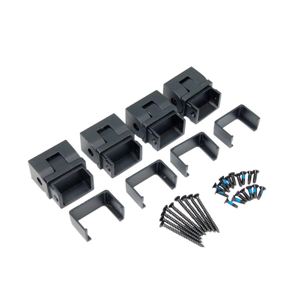 Al13 1-1/2 in. Aluminum Black Sand Stair External Bracket (4-Pack)