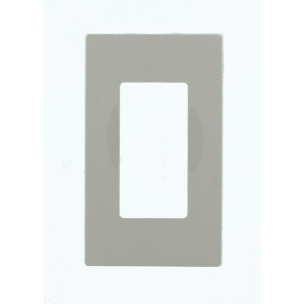 Leviton Decora 1-Gang Screwless Wallplate, Gray-80301-SGY - The Home ...