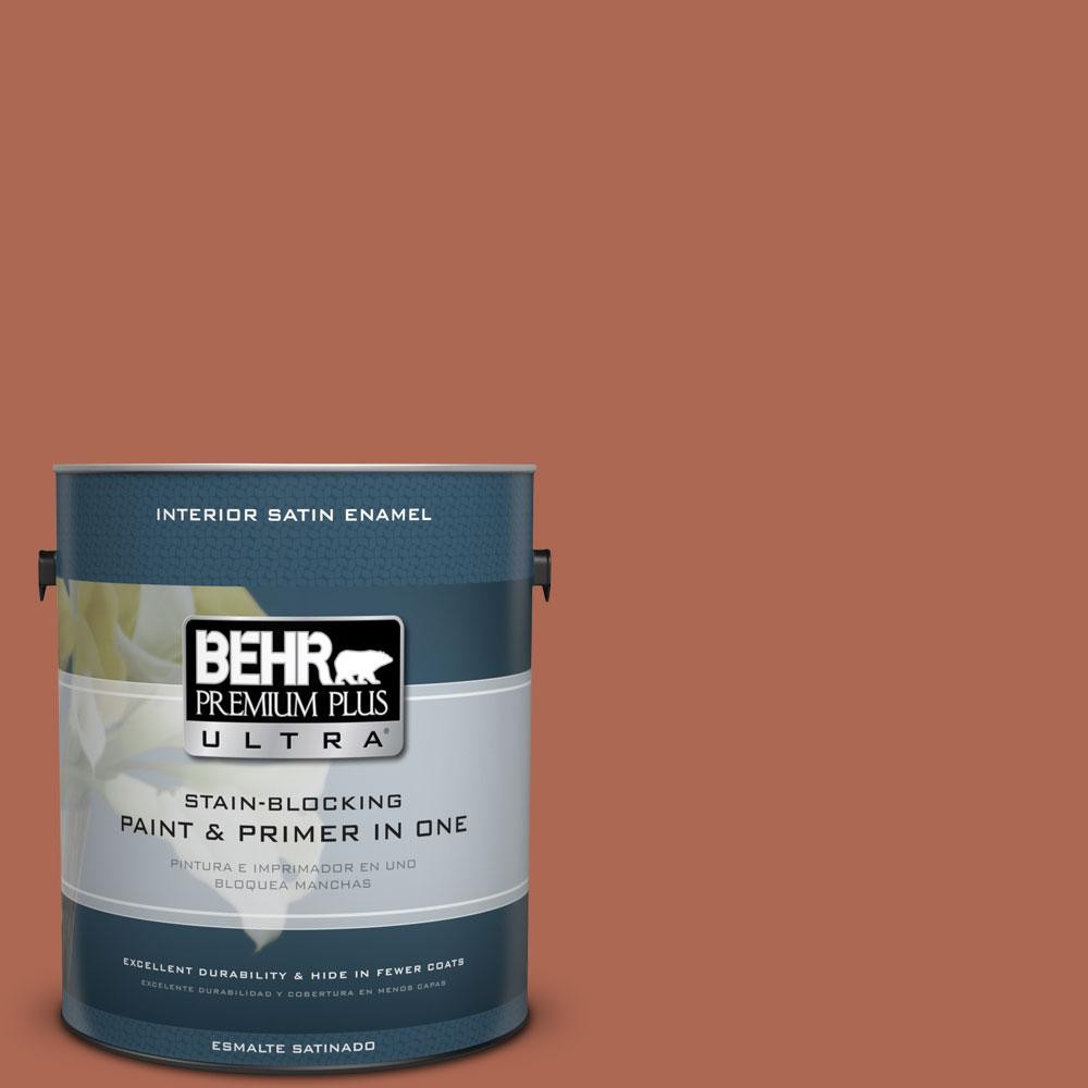 1 gal. #220D-7 Mojave Sunset Satin Enamel Interior Paint and Primer