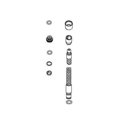 Replacement Hose Kit, Polished Chrome