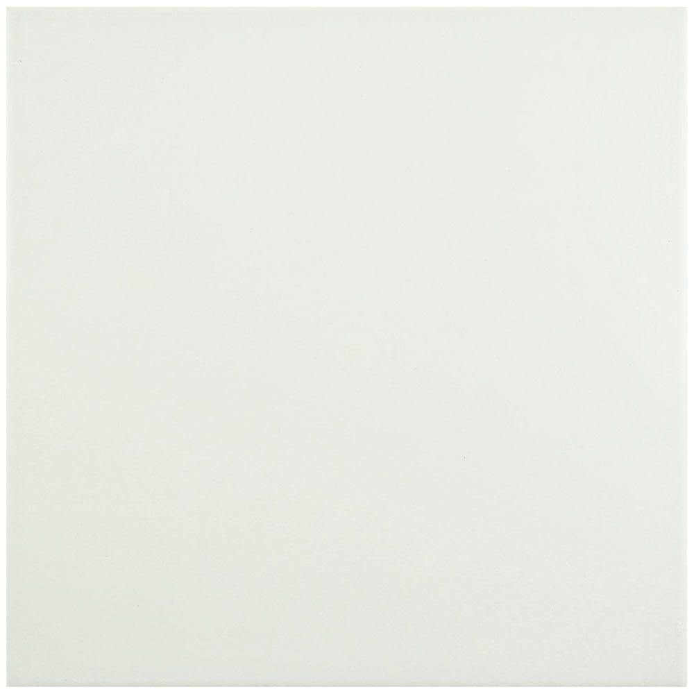 Hidraulico Blanco 9-3/4 in. x 9-3/4 in. Porcelain Floor and Wall