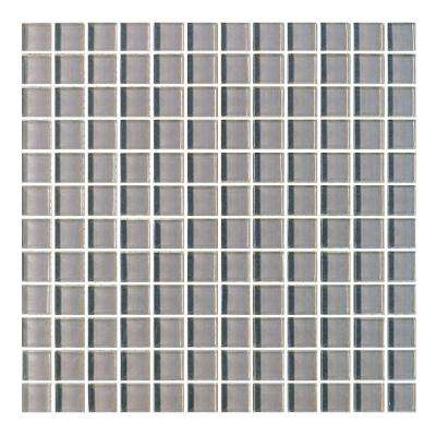 Metro Pebble Gray 12 in. x 12 in. x 6 mm Glass Mosaic Tile