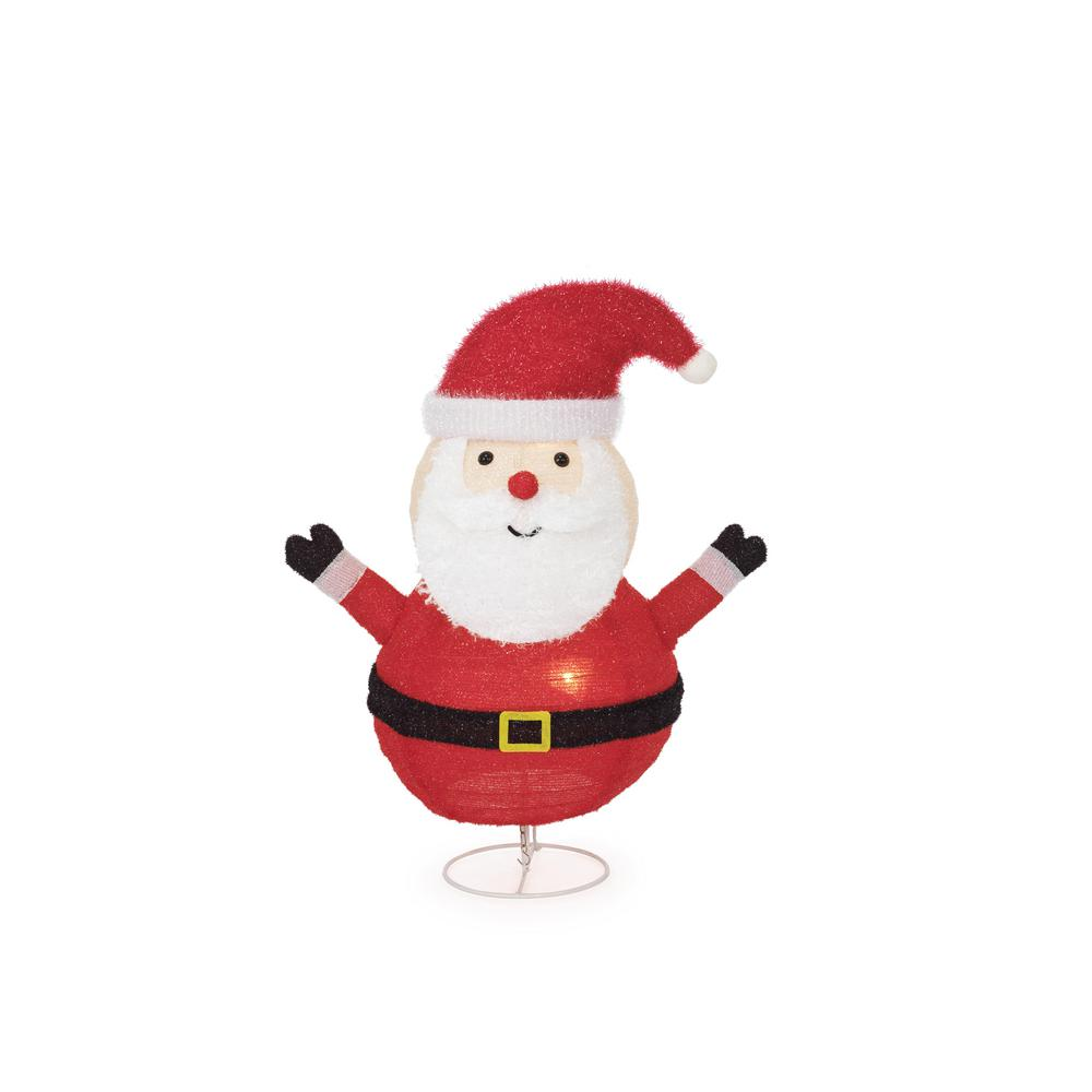 lighted collapsible santa