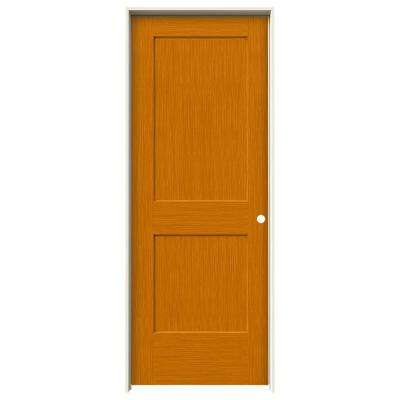 32 in. x 80 in. Monroe Saffron Stain Left-Hand Solid Core Molded Composite MDF Single Prehung Interior Door