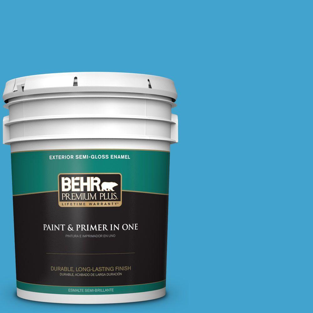 5-gal. #540B-6 Sea Ridge Semi-Gloss Enamel Exterior Paint