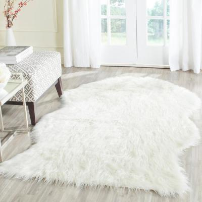 Faux Sheep Skin Ivory 3 ft. x 5 ft. Area Rug