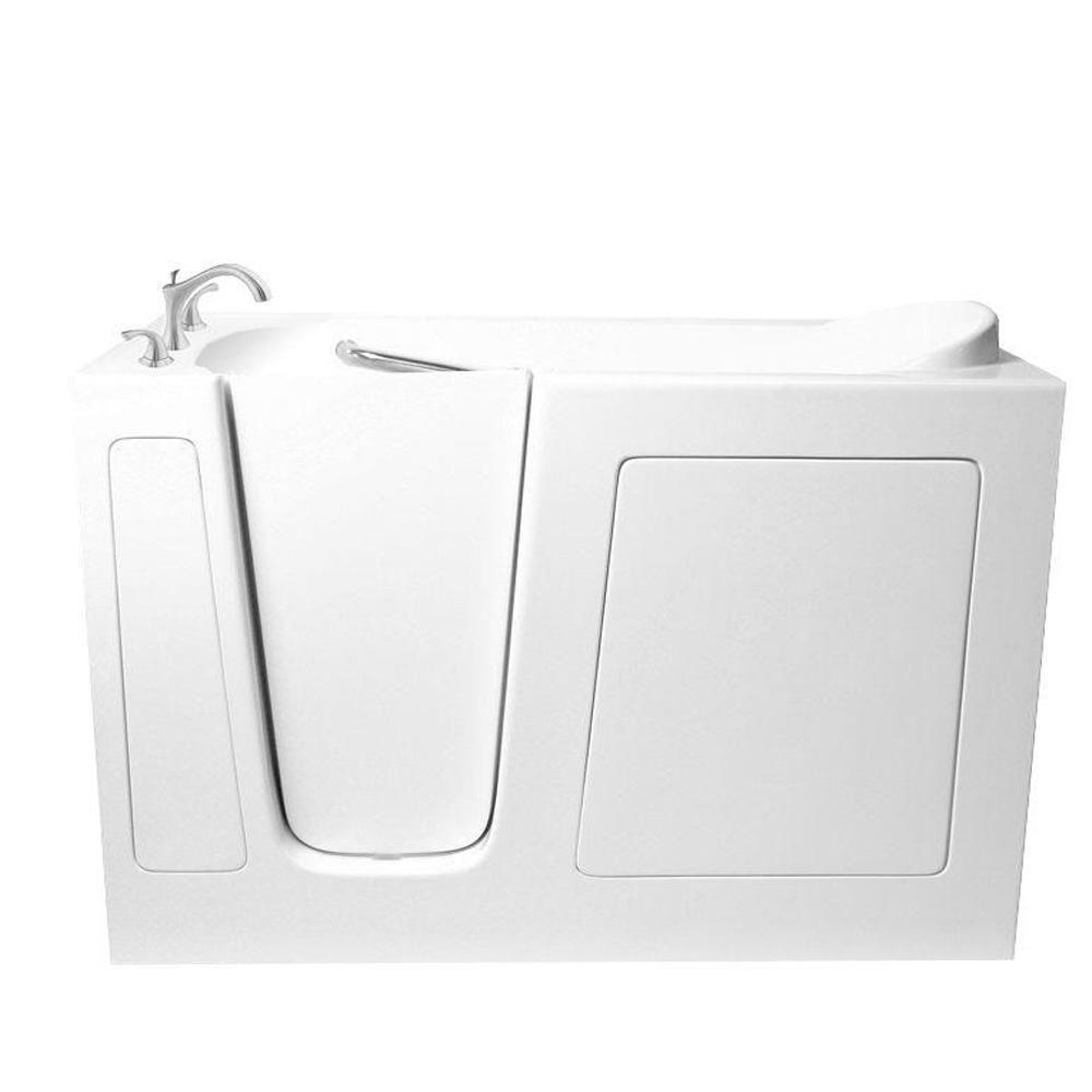 5 ft. Walk-In Left Hand Bathtub in White