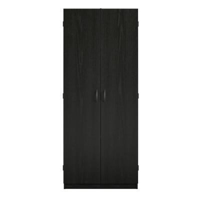 System Build Woodworth 72 in. Black Oak Storage Cabinet