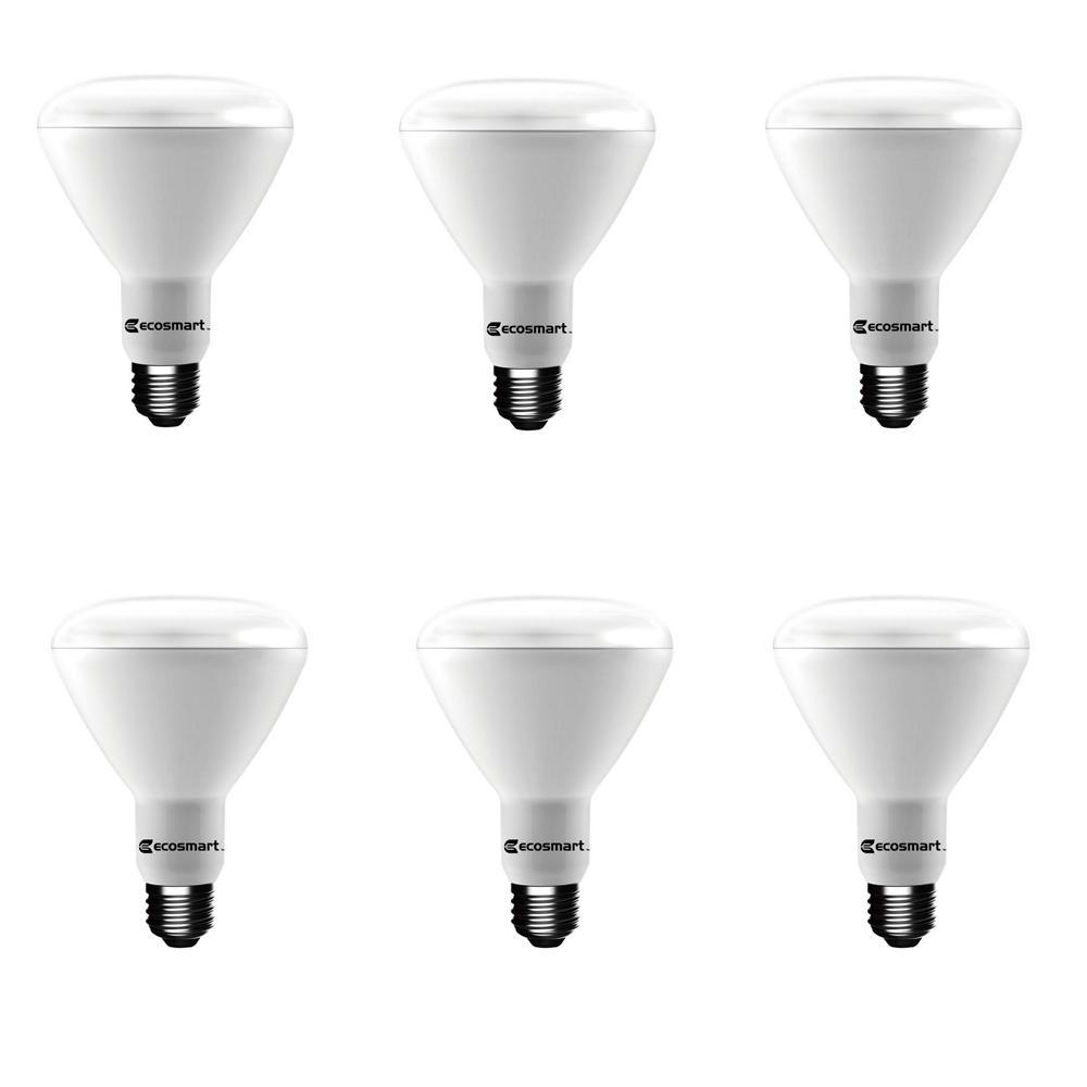 65-Watt Equivalent BR30 Dimmable CEC LED Light Bulb Soft White (6-Pack)