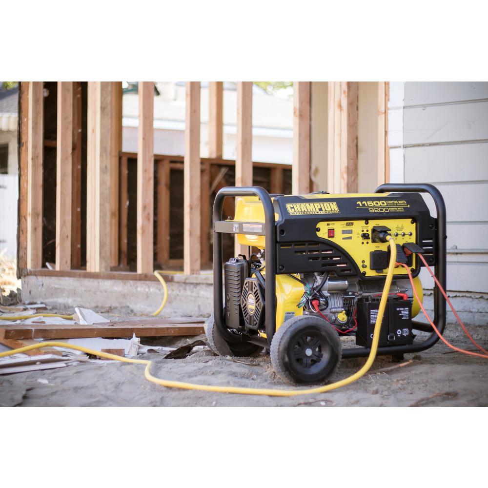 champion power equipment 9,200-watt gasoline powered electric start  portable generator