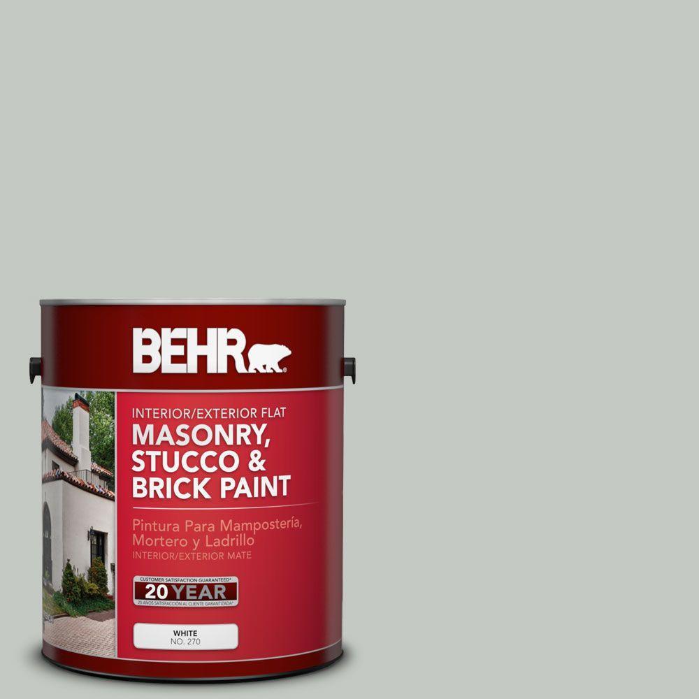 1 gal. #MS-66 New England Grey Flat Interior/Exterior Masonry, Stucco and Brick Paint
