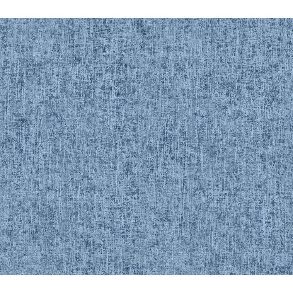 The Wallpaper Company 56 sq. ft. Blue Emblem Stamp Wallpaper