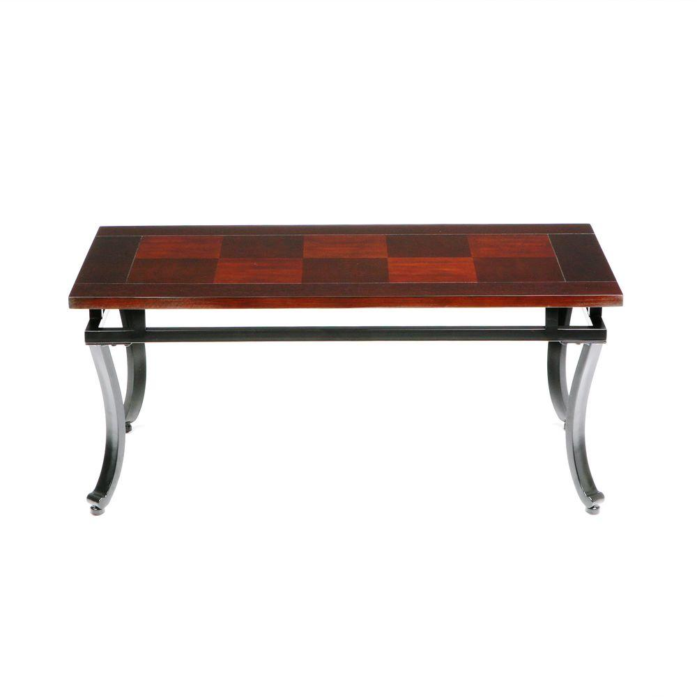 Southern Enterprises Modesto Espresso Contoured Coffee Table