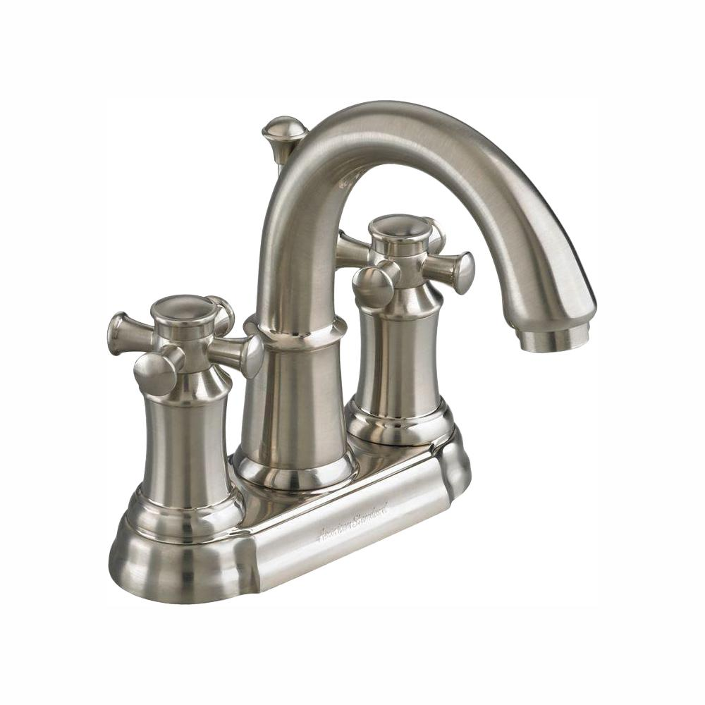 American Standard Portsmouth 4 in. 2-Handle High Arc Bathroom Faucet with Speed Connect Drain in Brushed Nickel