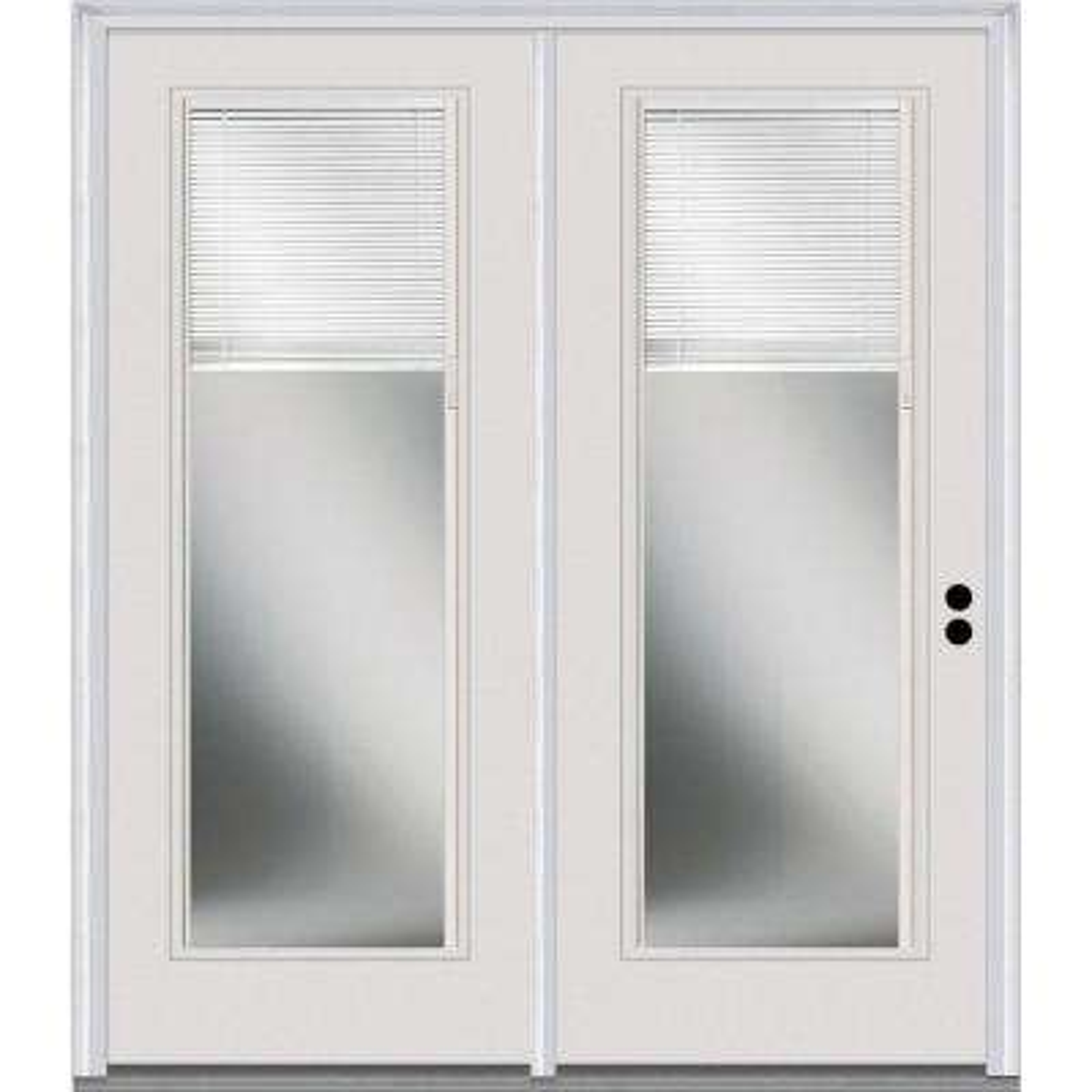 Classic Clear Low-E Glass Fiberglass Smooth Prehung Left-Hand Inswing RLB Patio Door