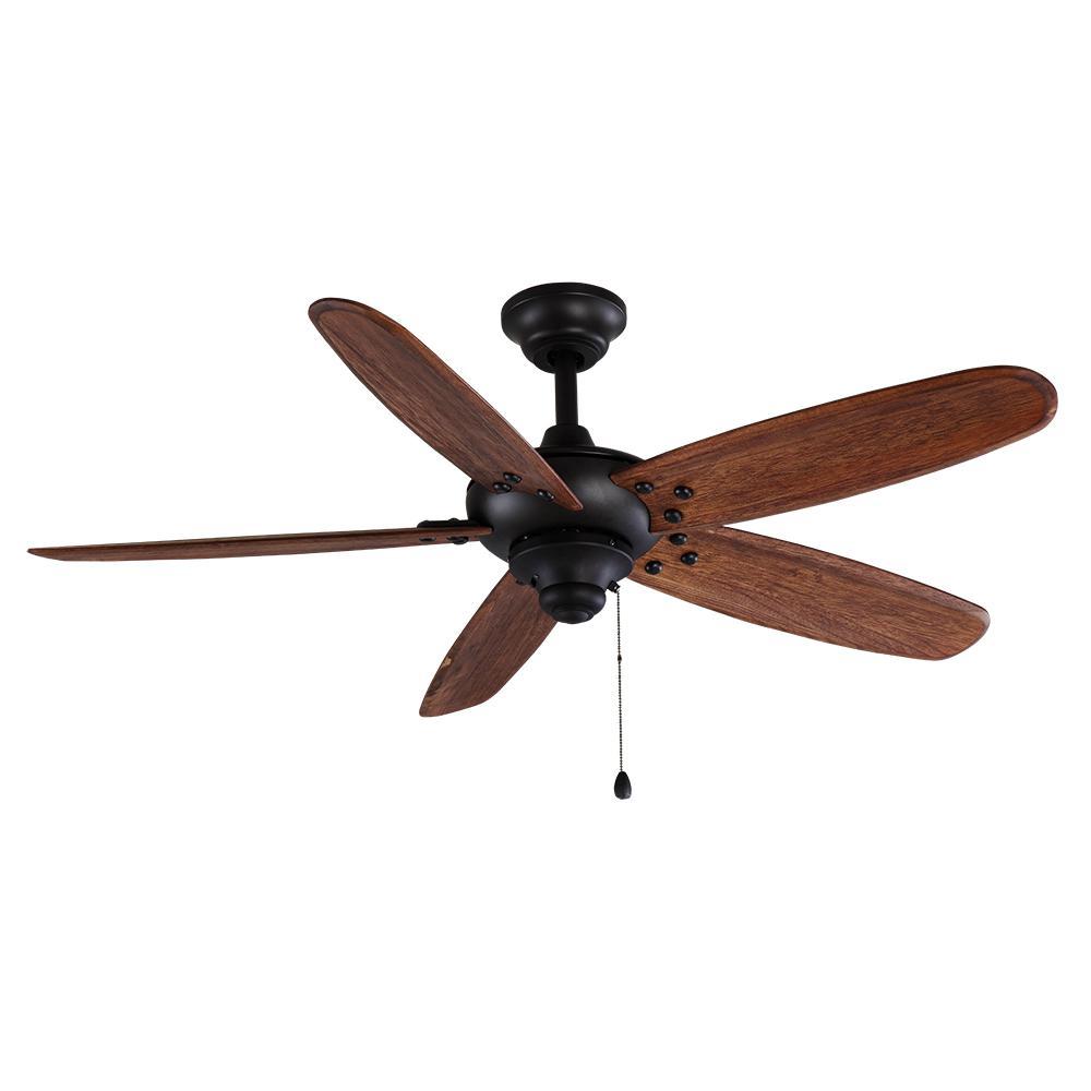 Altura 48 in. Indoor/Outdoor Matte Black Ceiling Fan