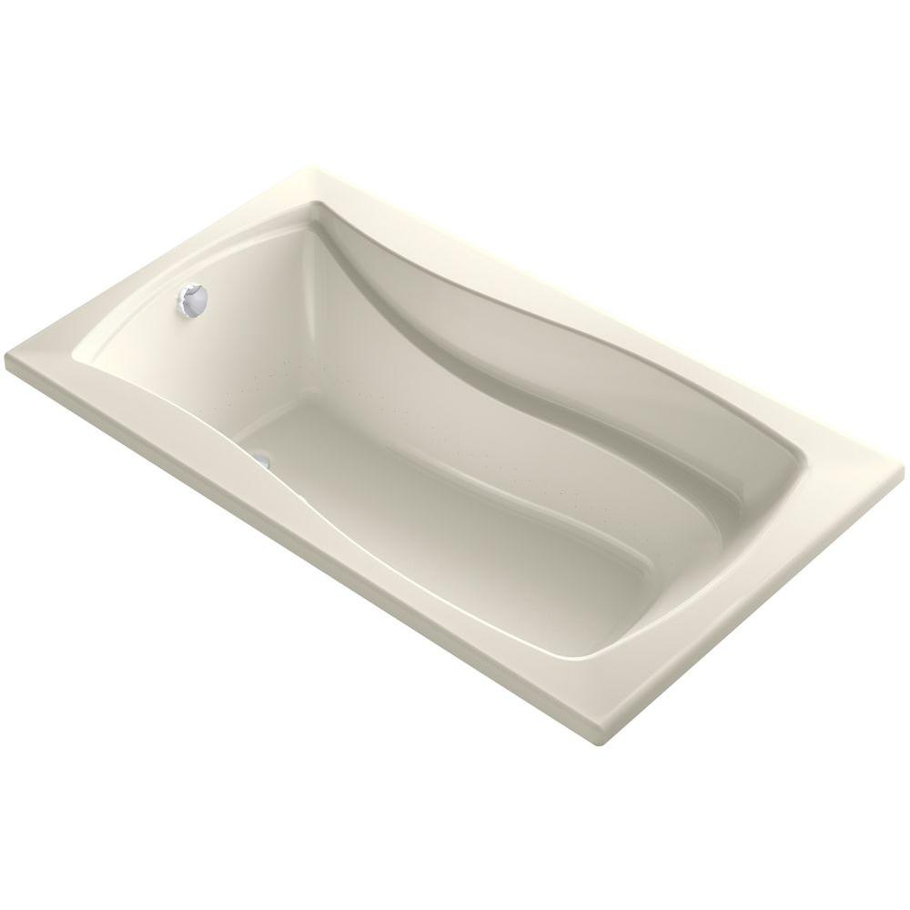 Mariposa 5.5 ft. Air Bath Tub in Biscuit