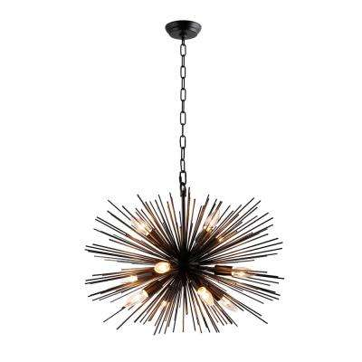 12-Light Black Sputnik Chandelier
