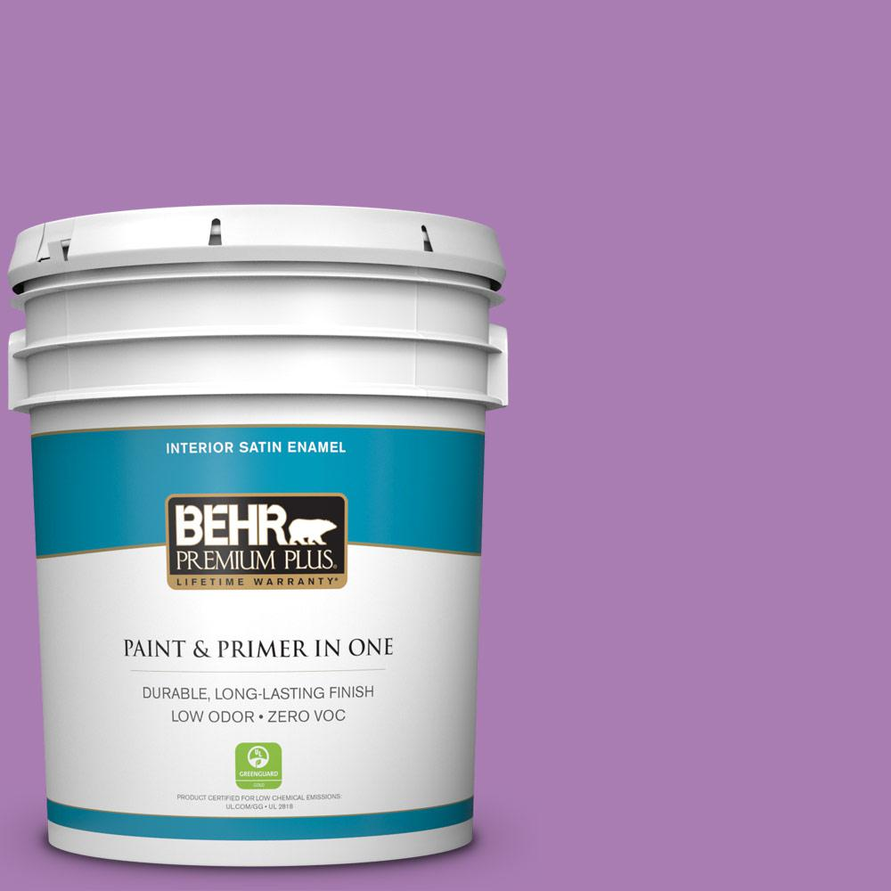 BEHR Premium Plus 5-gal. #P100-5 I Heart Potion Satin Enamel Interior Paint