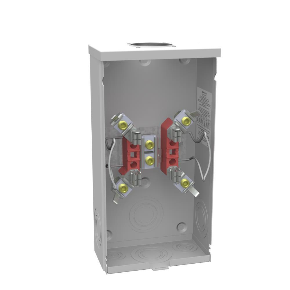 200 Amp 4 teminal Ringless Overhead Horn Bypass Meter Socket