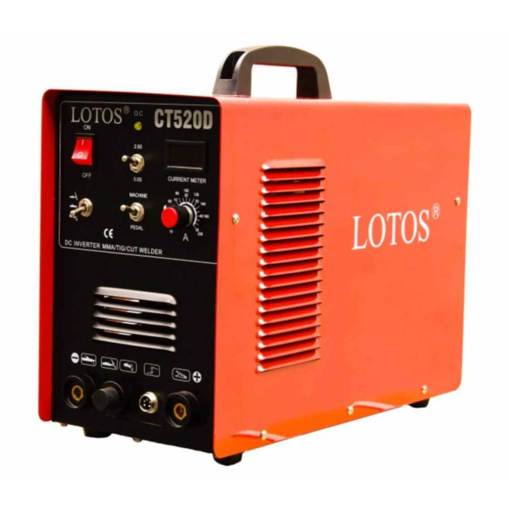 Lotos 50 Amp Plasma Cutter, 200 Amp TIG/Stick Welder 3-in-1 Combo Welding Machine, Dual Voltage 110V/220V by Lotos