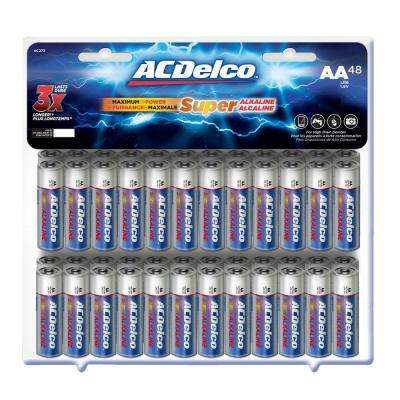 Super Alkaline AA Battery (48-Pack)