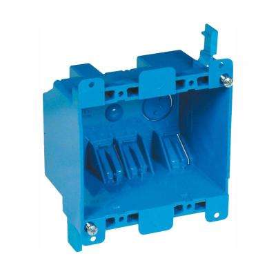 2-Gang 25 cu. in. Blue PVC Old Work Electrical Switch and Outlet Box (Case of 30)