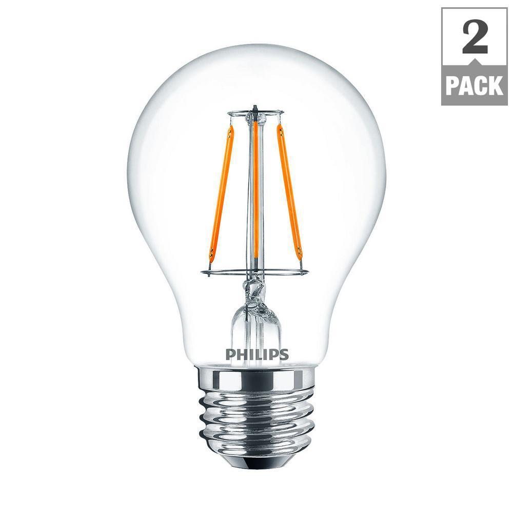 philips 60 watt equivalent a19 led light bulb daylight. Black Bedroom Furniture Sets. Home Design Ideas