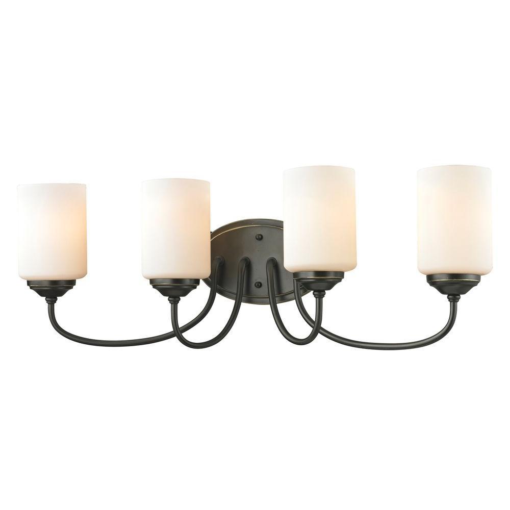 Filament Design Tetra 4-Light Olde Bronze Bath Vanity Light