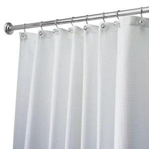 Carlton Extra Long Shower Curtain In White