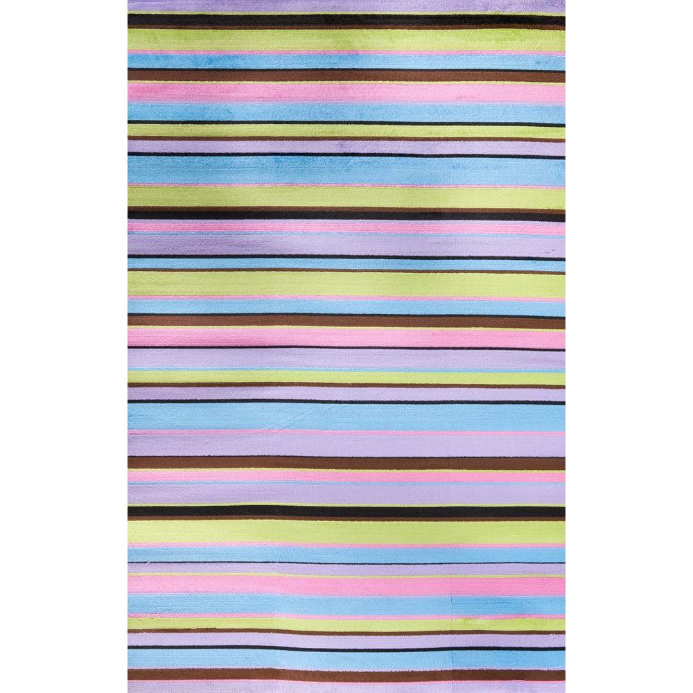Alisa Stripes Multi 3 ft. x 5 ft. Area Rug