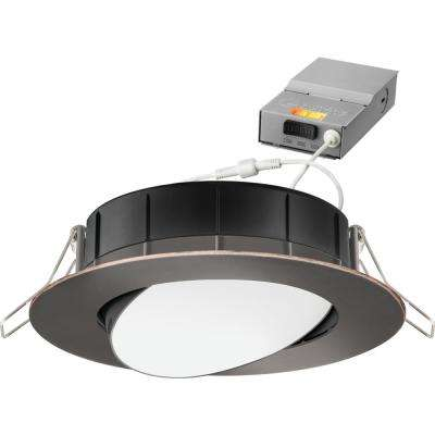 4 in. Selectable Color Temperature New Construction or Remodel Recessed Integrated LED Gimbal Kit, Oil Rubbed Bronze