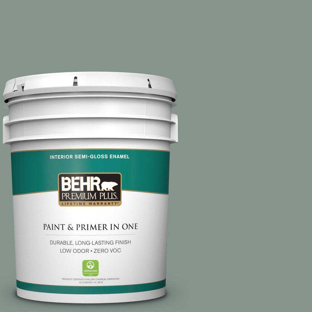 BEHR Premium Plus 5-gal. #N420-4 Underground Gardens Semi-Gloss Enamel Interior Paint