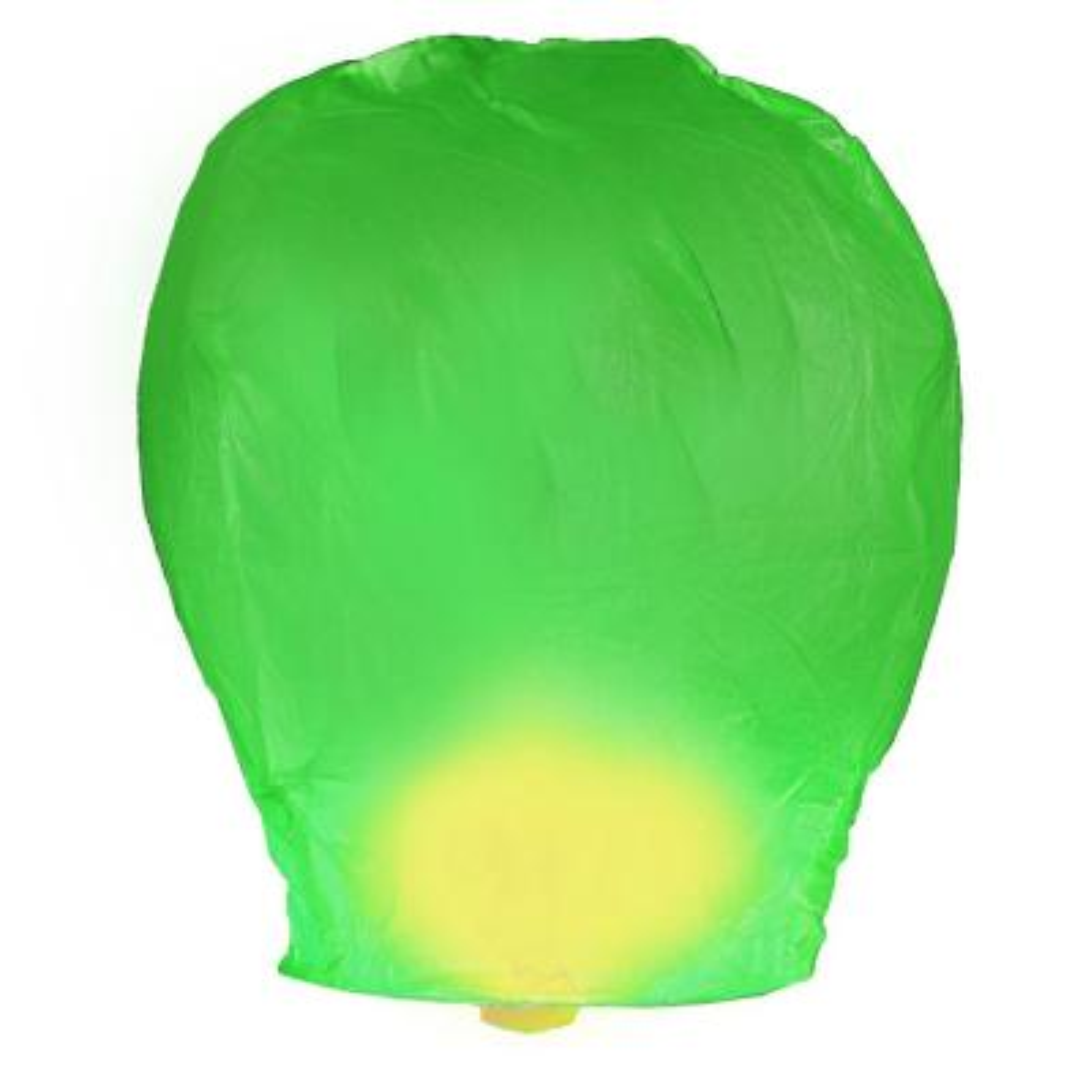 Green Sky Lanterns (Set of 4)