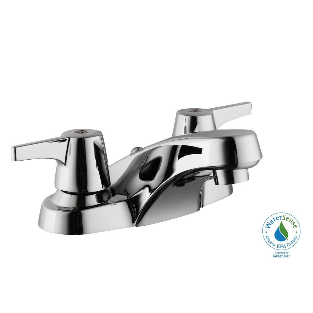 Aragon 4 in. Centerset 2-Handle Low-Arc Bathroom Faucet without Pop-Up Drain