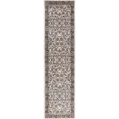 New Age Sonoma Beige 3 ft. x 10 ft. Traditional Vintage Distressed Oriental Runner Rug