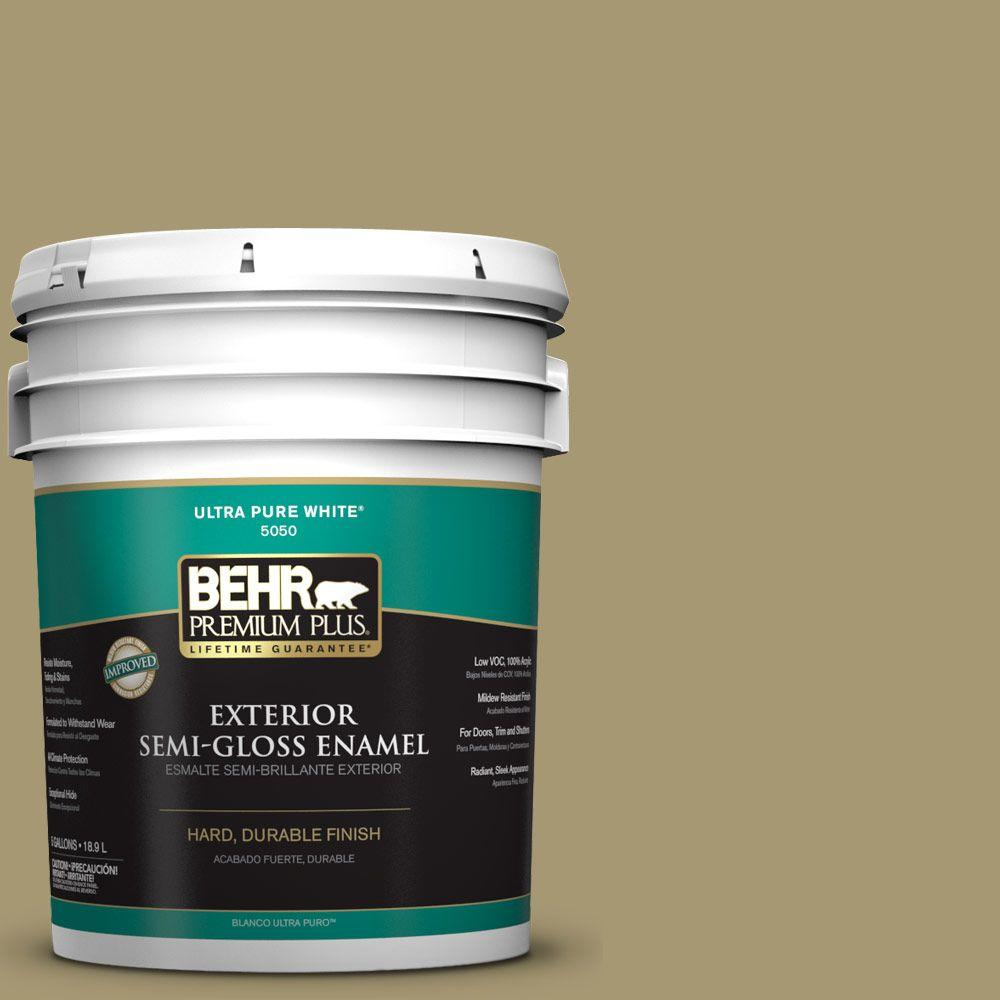 5-gal. #S330-5 Dried Chive Semi-Gloss Enamel Exterior Paint