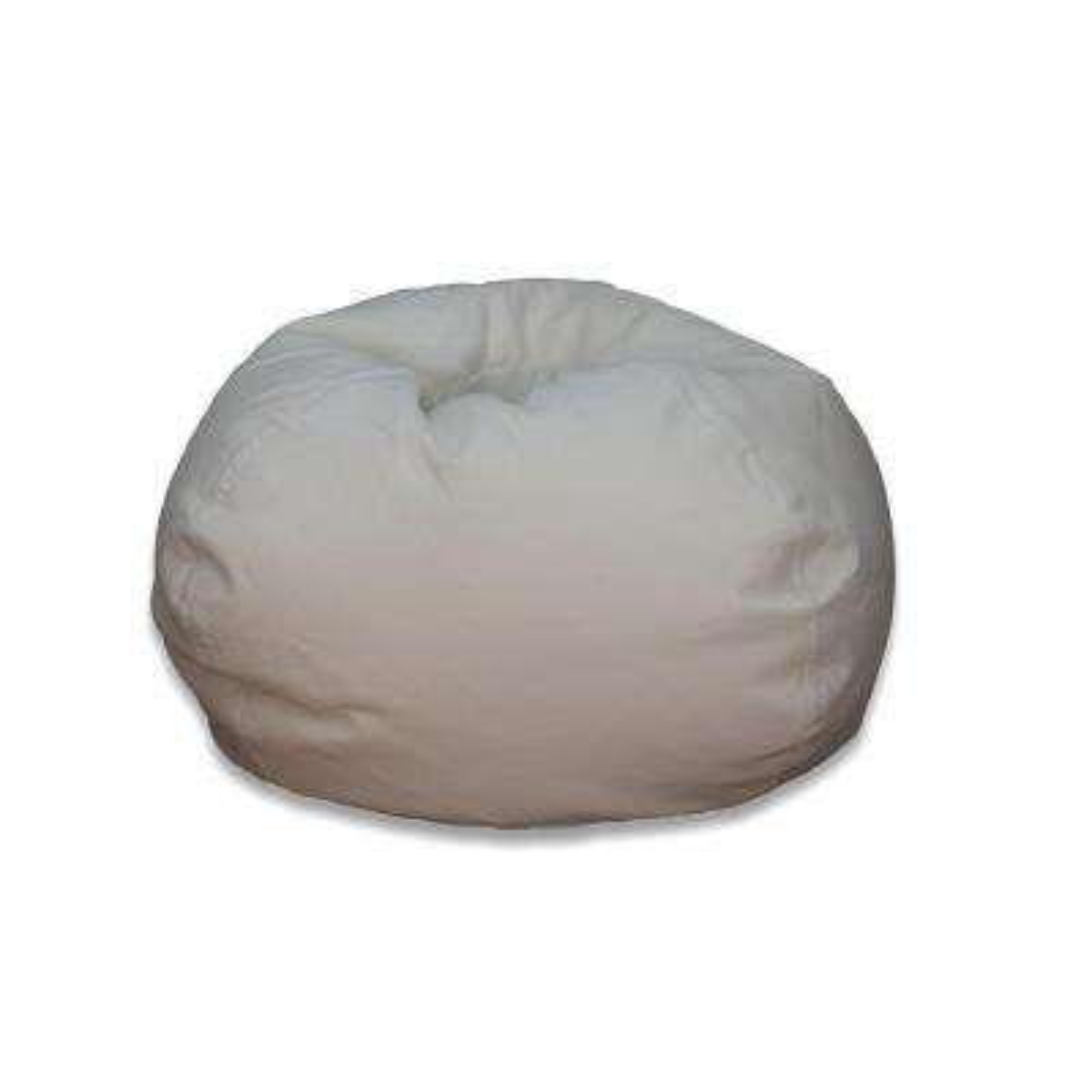 Vintage White Corduroy Bean Bag