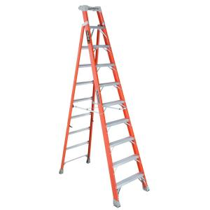 Louisville Ladder 10 ft. Fiberglass Cross Step Ladder with 300 lbs. Load... by Louisville Ladder