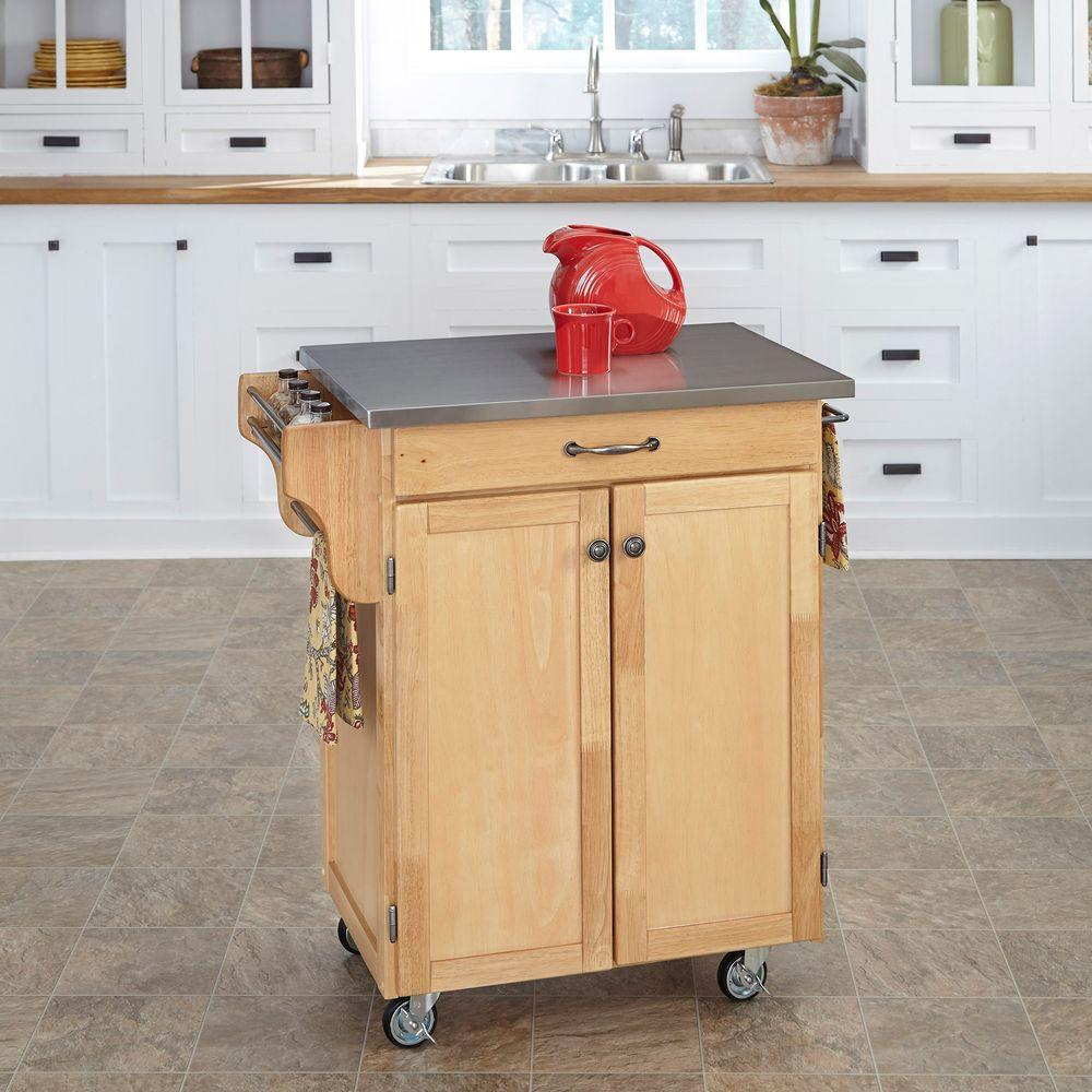 Oak Kitchen Carts And Islands Kitchen carts carts islands utility tables the home depot create a cart natural kitchen cart with stainless steel top workwithnaturefo