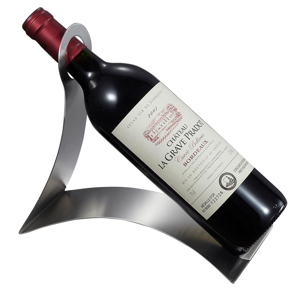 Visol Volnay Stainless Steel Wine Bottle Holder Vac344 The Home Depot